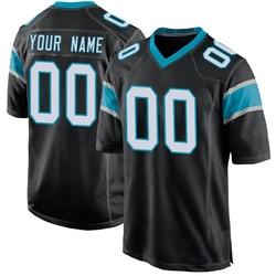 Custom Carolina Panthers Game Men's Team Color Jersey (Black)