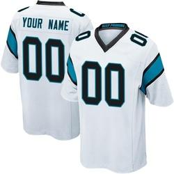Custom Carolina Panthers Game Youth Jersey (White)