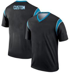 Custom Carolina Panthers Legend Men's # # Jersey (Black)