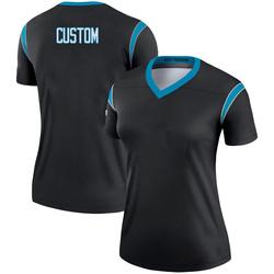Custom Carolina Panthers Legend Women's # # Jersey (Black)