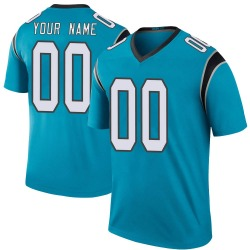 Custom Carolina Panthers Legend Youth Color Rush Jersey (Blue)