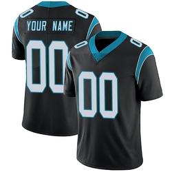 Custom Carolina Panthers Limited Men's Team Color Vapor Untouchable Jersey (Black)