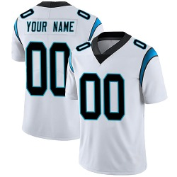 Custom Carolina Panthers Limited Men's Vapor Untouchable Jersey (White)