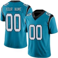 Custom Carolina Panthers Limited Youth Alternate Vapor Untouchable Jersey (Blue)