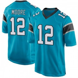 DJ Moore Carolina Panthers Game Men's Alternate Jersey (Blue)