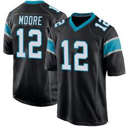 DJ Moore Carolina Panthers Game Youth Team Color Jersey (Black)