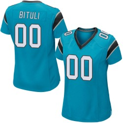 Daniel Bituli Carolina Panthers Game Women's Alternate Jersey (Blue)