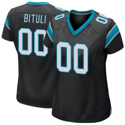 Daniel Bituli Carolina Panthers Game Women's Team Color Jersey (Black)
