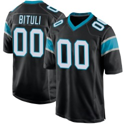 Daniel Bituli Carolina Panthers Game Youth Team Color Jersey (Black)