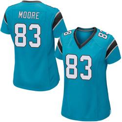 David Moore Carolina Panthers Game Women's Alternate Jersey (Blue)