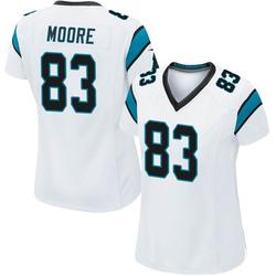 David Moore Carolina Panthers Game Women's Jersey (White)
