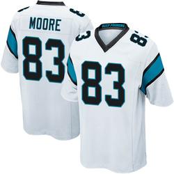 David Moore Carolina Panthers Game Youth Jersey (White)