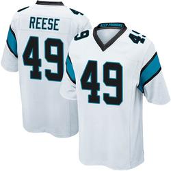 David Reese Carolina Panthers Game Youth Jersey (White)
