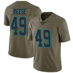 David Reese Carolina Panthers Limited Men's 2017 Salute to Service Jersey (Green)