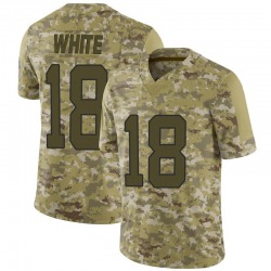 DeAndrew White Carolina Panthers Limited Men's 2018 Salute to Service Jersey (Camo)