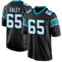 Dennis Daley Carolina Panthers Game Youth Team Color Jersey (Black)