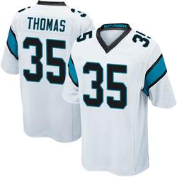 Derrek Thomas Carolina Panthers Game Youth Jersey (White)