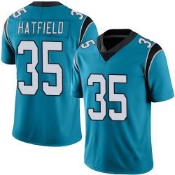 Dominique Hatfield Carolina Panthers Limited Men's Alternate Vapor Untouchable Jersey (Blue)