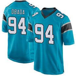 Efe Obada Carolina Panthers Game Men's Alternate Jersey (Blue)