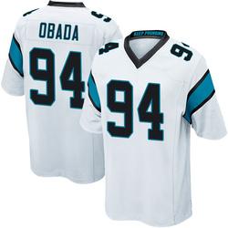 Efe Obada Carolina Panthers Game Men's Jersey (White)
