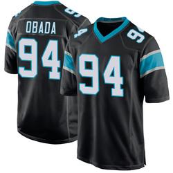 Efe Obada Carolina Panthers Game Men's Team Color Jersey (Black)