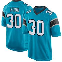 Elijah Hood Carolina Panthers Game Men's Alternate Jersey (Blue)