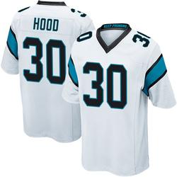 Elijah Hood Carolina Panthers Game Men's Jersey (White)