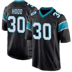 Elijah Hood Carolina Panthers Game Men's Team Color Jersey (Black)