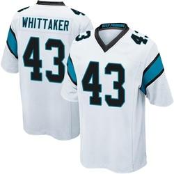 Fozzy Whittaker Carolina Panthers Game Men's Jersey (White)