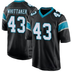 Fozzy Whittaker Carolina Panthers Game Youth Team Color Jersey (Black)