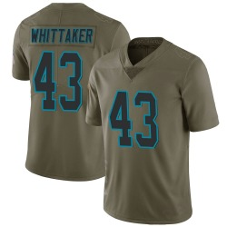 Fozzy Whittaker Carolina Panthers Limited Men's 2017 Salute to Service Jersey (Green)