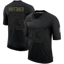 Fozzy Whittaker Carolina Panthers Limited Men's 2020 Salute To Service Jersey (Black)