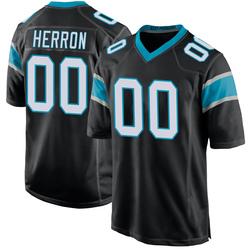 Frank Herron Carolina Panthers Game Men's Team Color Jersey (Black)