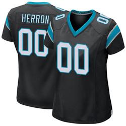 Frank Herron Carolina Panthers Game Women's Team Color Jersey (Black)