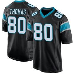 Ian Thomas Carolina Panthers Game Youth Team Color Jersey (Black)