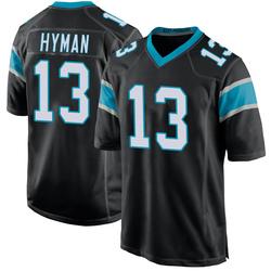 Ishmael Hyman Carolina Panthers Game Men's Team Color Jersey (Black)