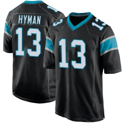 Ishmael Hyman Carolina Panthers Game Youth Team Color Jersey (Black)