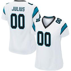 Jalen Julius Carolina Panthers Game Women's Jersey (White)