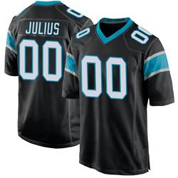 Jalen Julius Carolina Panthers Game Youth Team Color Jersey (Black)