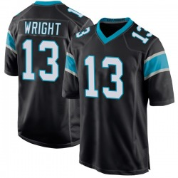 Jarius Wright Carolina Panthers Game Youth Team Color Jersey (Black)