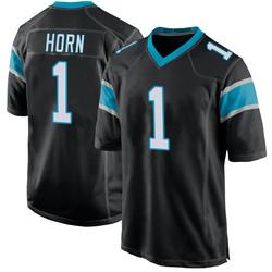 Jaycee Horn Carolina Panthers Game Youth Team Color Jersey (Black)