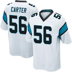 Jermaine Carter Carolina Panthers Game Men's Jersey (White)