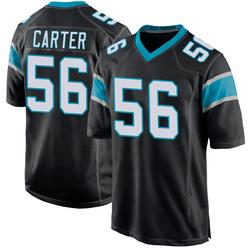 Jermaine Carter Carolina Panthers Game Men's Team Color Jersey (Black)