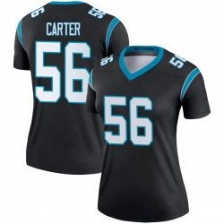 Jermaine Carter Carolina Panthers Legend Women's Jersey (Black)