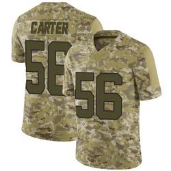 Jermaine Carter Carolina Panthers Limited Men's 2018 Salute to Service Jersey (Camo)