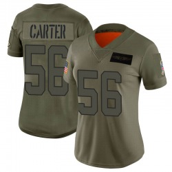 Jermaine Carter Carolina Panthers Limited Women's 2019 Salute to Service Jersey (Camo)