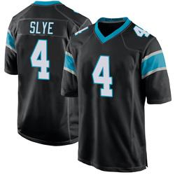 Joey Slye Carolina Panthers Game Youth Team Color Jersey (Black)