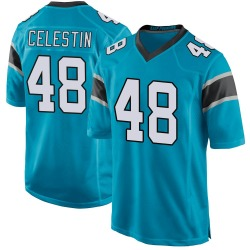 Jonathan Celestin Carolina Panthers Game Youth Alternate Jersey (Blue)
