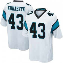 Jordan Kunaszyk Carolina Panthers Game Youth Jersey (White)