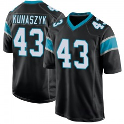Jordan Kunaszyk Carolina Panthers Game Youth Team Color Jersey (Black)